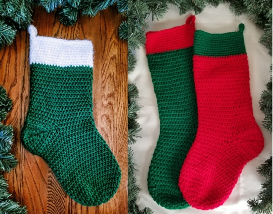 2 Similar Christmas Stockings